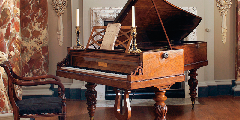 A piano used and played by Chopin (c) The Cobbe Collection