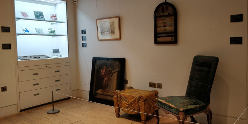 Room shot of the display 'Antique Dealers: Buying, Selling and Collecting'