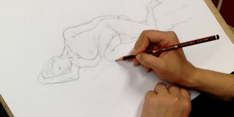 Life drawing session in progress
