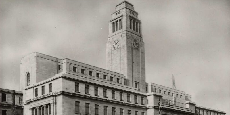 A cropped image of the Parkinson Building