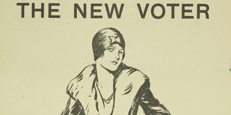 'The New Voter' poster with a woman figure