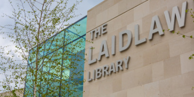 Image of the Laidlaw Library sign