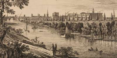 An 18th century view of York from the River Ouse