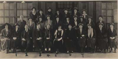 Group photo showing The Women's Engineering Society Conference in 1929