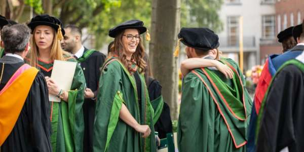Leeds PhD researchers happy after graduating