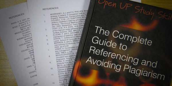 A book on referencing with examples of referencing pages