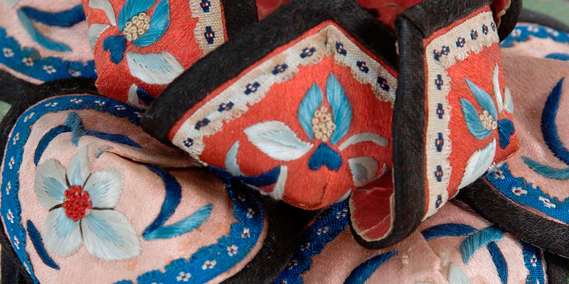 Close-up detail of a baby's hat made in China